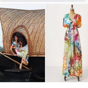 Spectrum Caftan Maxi Dress by Hemant & Nandita